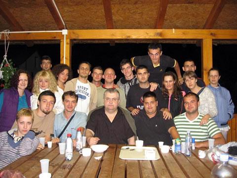 Učesnici Letnjeg kampa LSVO sa Nenadom Čankom