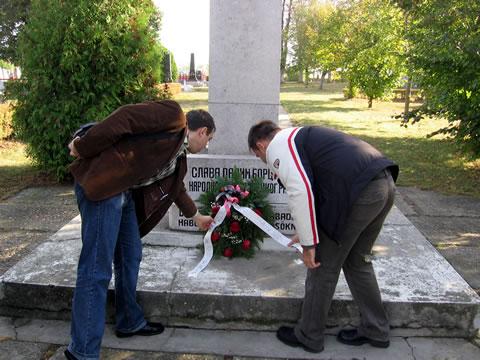 Polaganje venca na spomen obeležje palim borcima u NOB-u