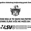 """Plakat """"261 godina slobodnog kraljevskog grada Sombora"""""""
