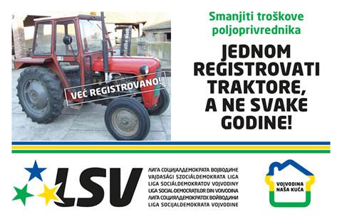 Stop godišnjoj registraciji traktora