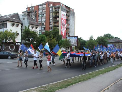 1000 zastava u Subotici
