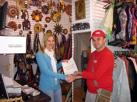 Dodela priznanja prodavnici